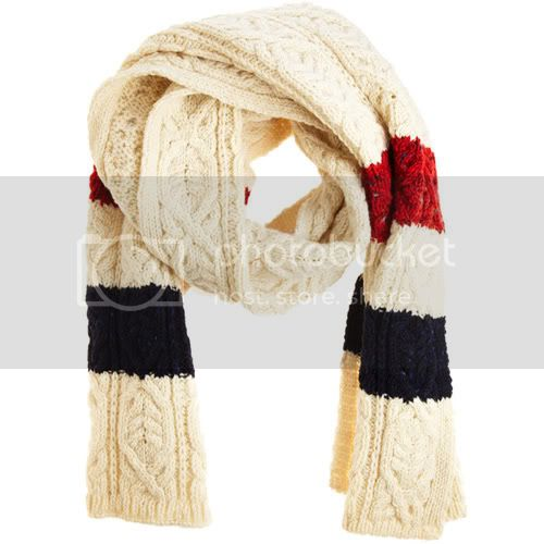 Thom Browne Cable Knit Stripe Scarf